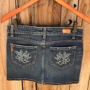 PAIGE Malibu Mini denim skirt size 27